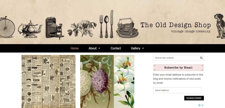 Old Design Shop website