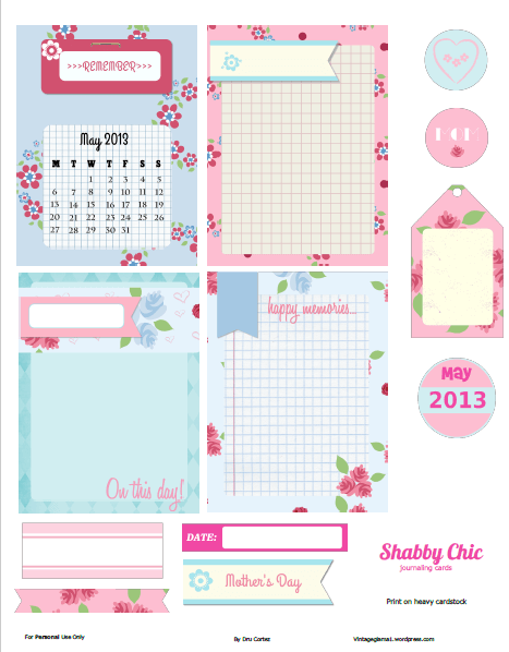 Shabby Chic Journaling Cards