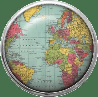 vintage map brad