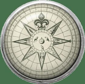 vintage compass brad