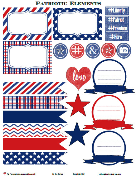 Patriotic Elements | printable for personal use only