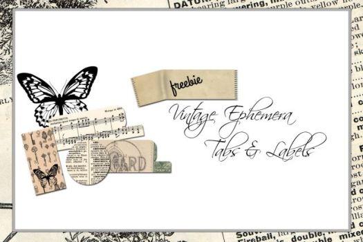 Free Printable Download Vintage Ephemera Tabs Vintage Glam Studio
