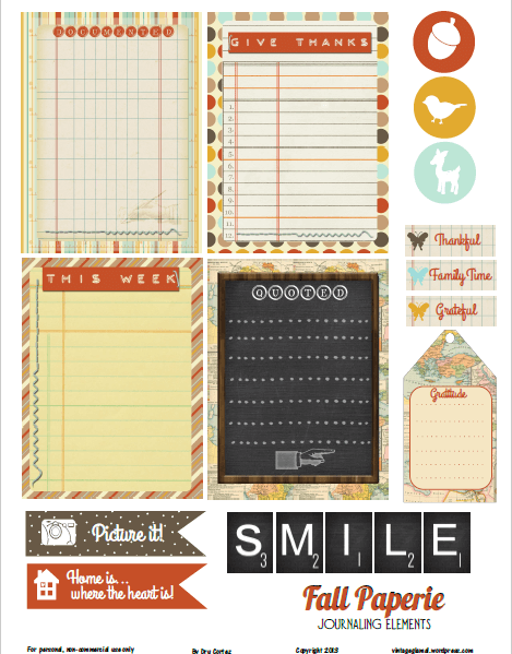 Fall Paperie | free printable, for personal use