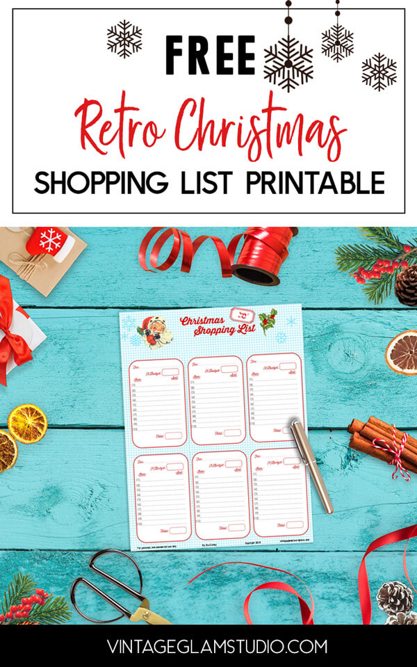 retro christmas shopping list