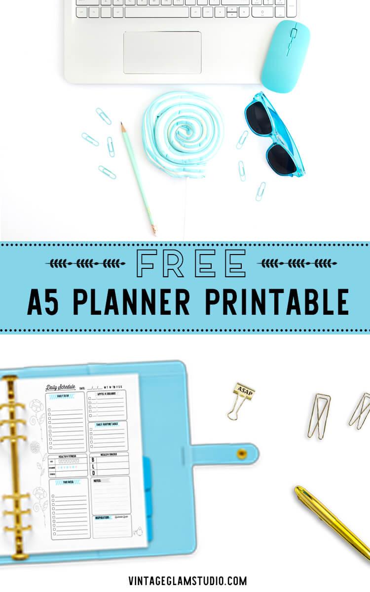 a5 planner printable,desktop