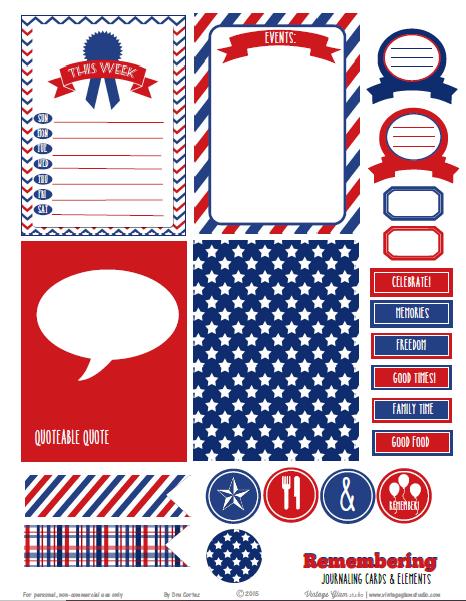 Patriotic Journaling Cards