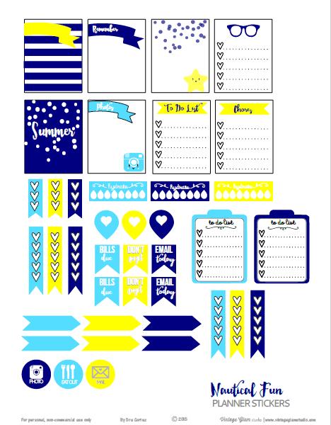Nautical Fun | planner stickers printable
