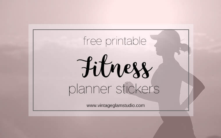 photograph relating to Free Printable Fitness Planner identified as Physical fitness Planner Stickers - Free of charge Printable Down load - Typical