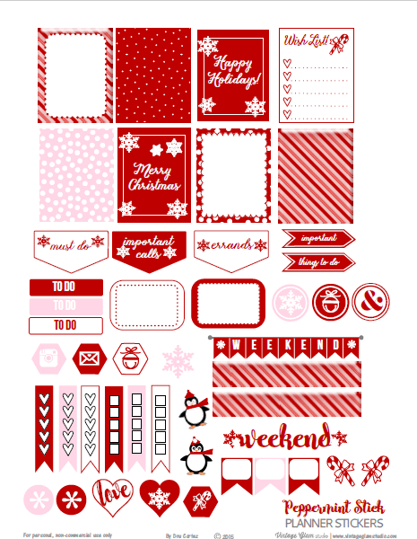 Peppermint Stick | planner stickers