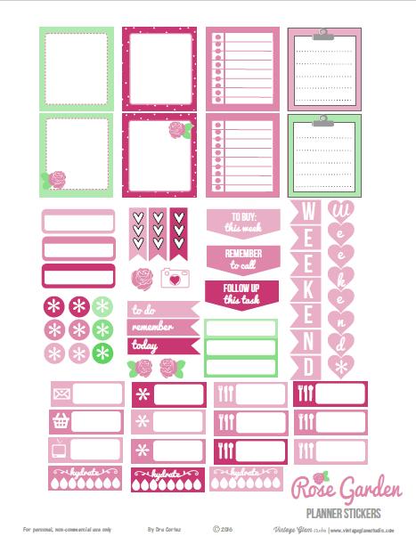 Rose Garden | Planner stickers  preview