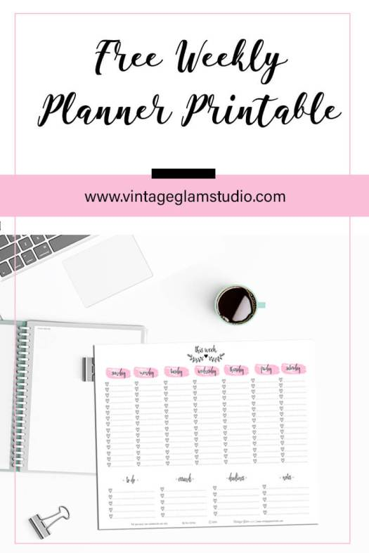 Weekly Checklist | planner printable