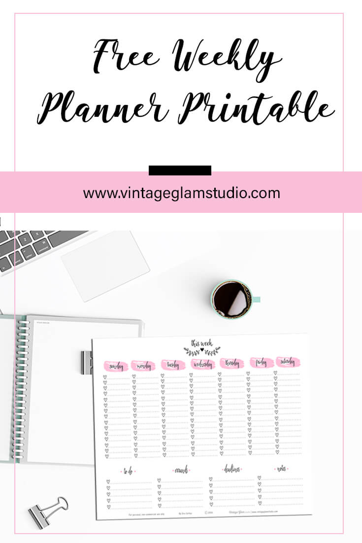 Weekly Checklist | planner printable