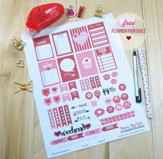 planner stickers print sample