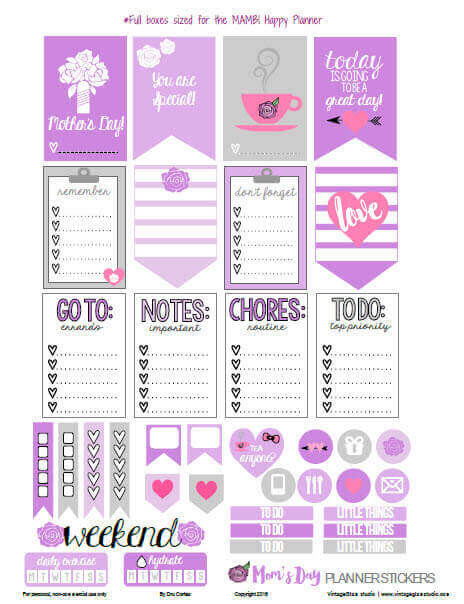 Moms-Day Planner Stickers Preview