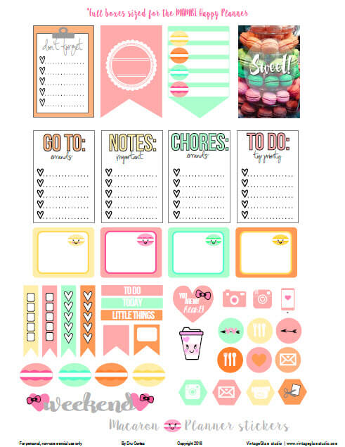 planner stickers preview