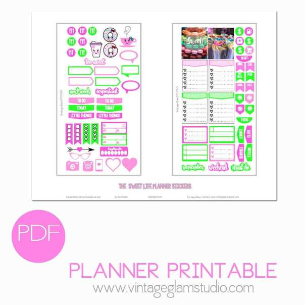 The Sweet Life Planner Stickers