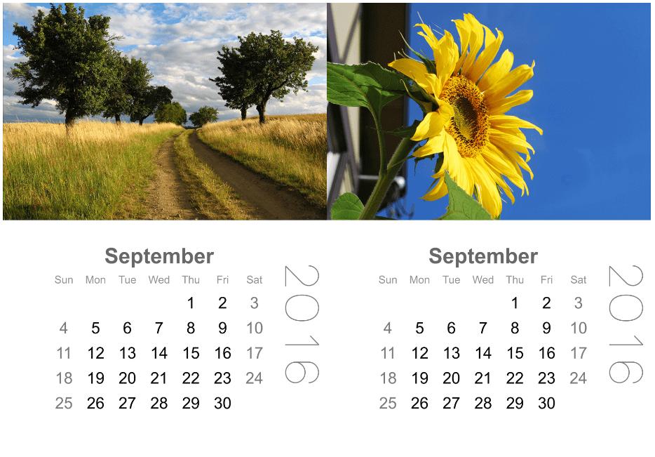 mini calendar pocket scrapbooking