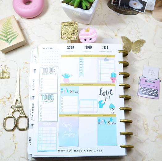 planner stickers printable layout