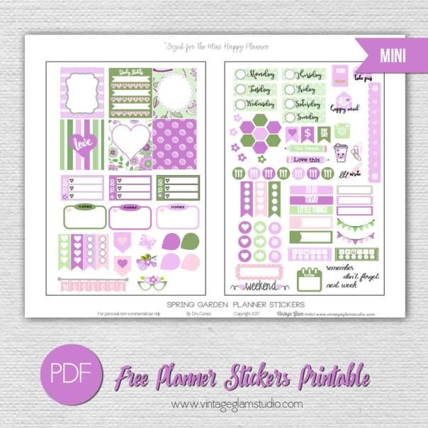 Spring Garden Planner Stickers | Free printable