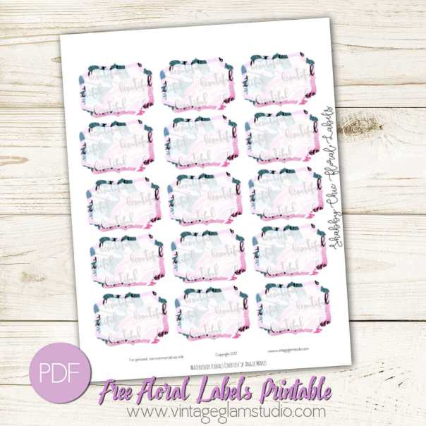 Shabby Chic Floral Labels | Free printable, for personnal use only