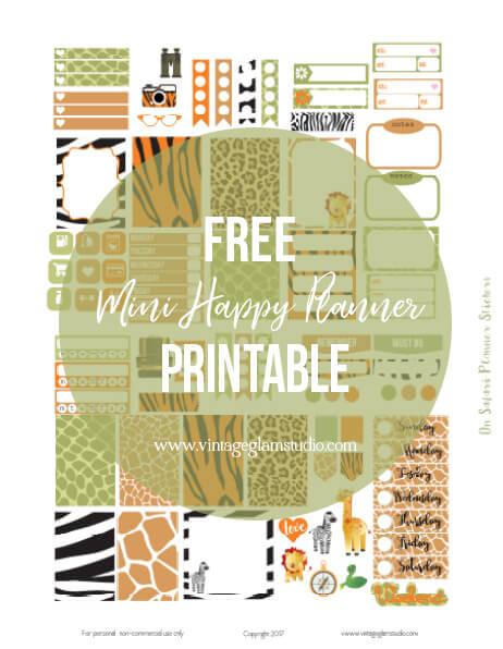 free mini happy planner printable