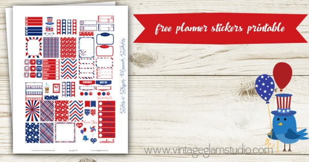 patriotic planner stickers for the mini happy planner