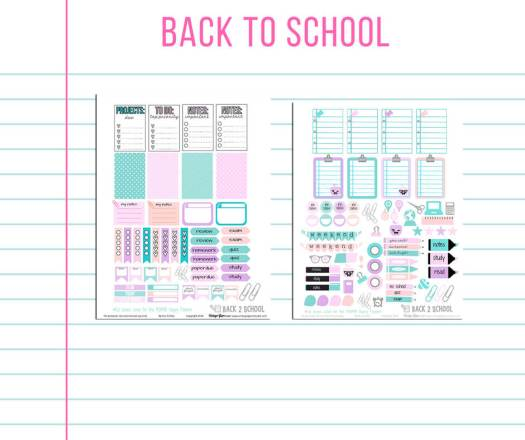 Free printable for the happy planner, preview