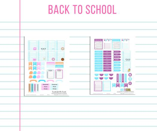 School themed free printables