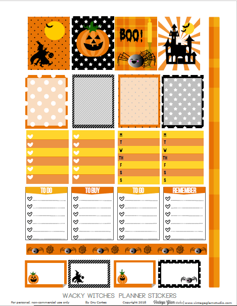 Wacky Witches printable preview