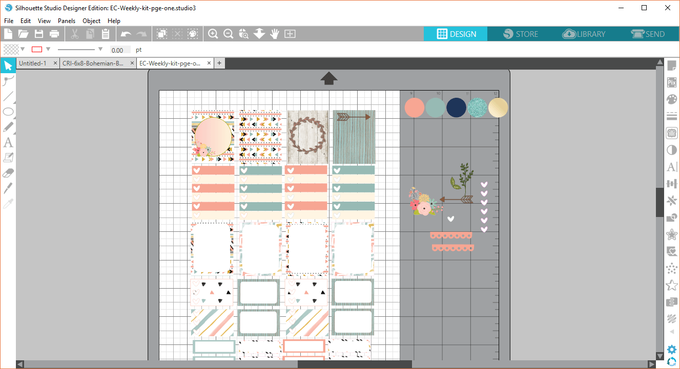 Silhouette design layout