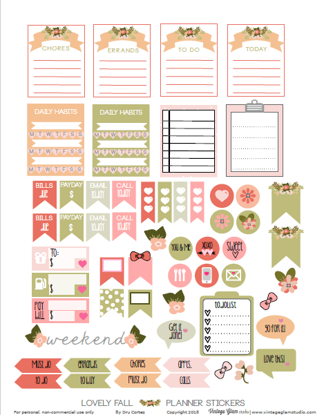 lovely fall printable page one