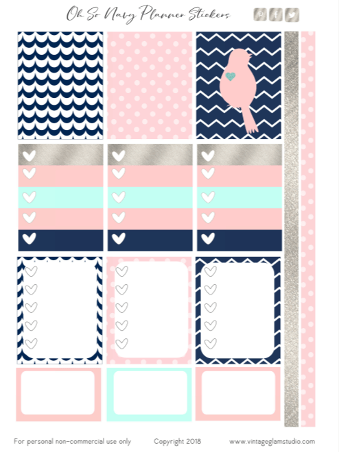 Oh So Navy Printable