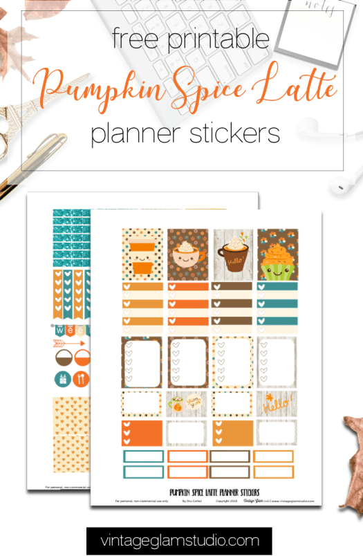 Fall themed planner stickers