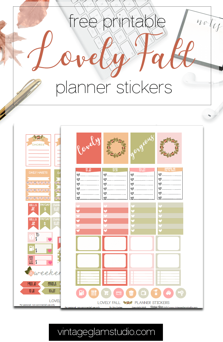 Lovely Fall Planner Stickers