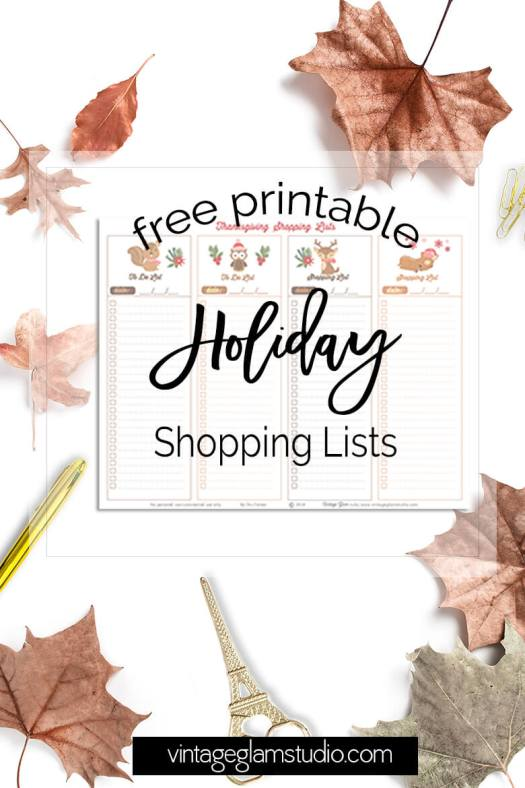 Holiday Shopping Lists