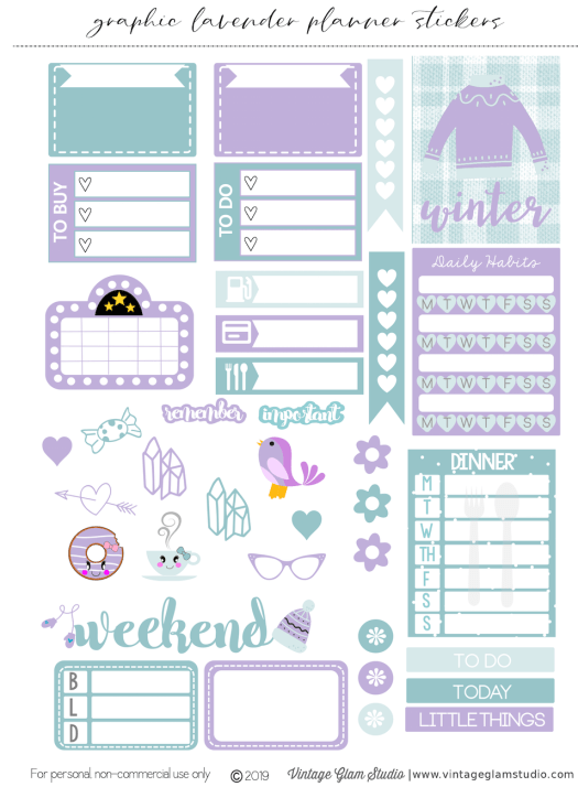 planner stickers printable , cricut ready