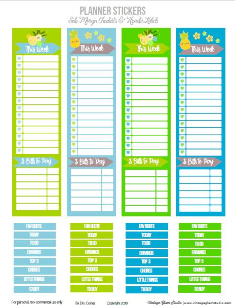 side margin checklists