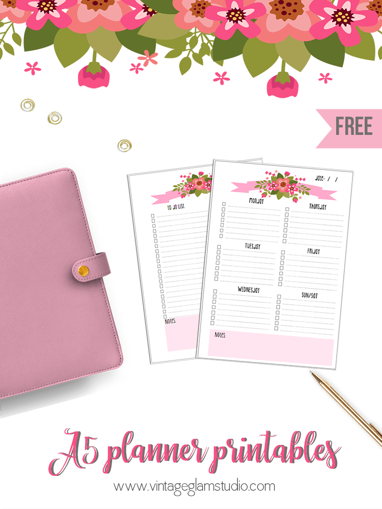 a5 planner printables  to do lists