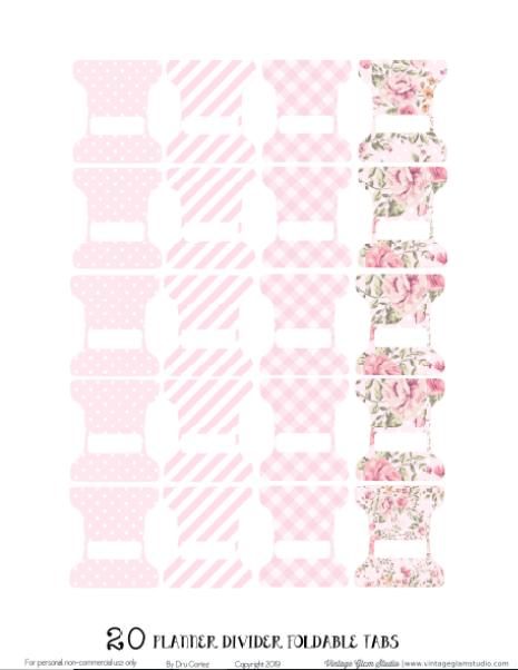 pink tab dividers