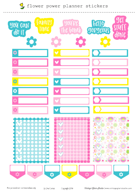 Cricut ready planner stickers