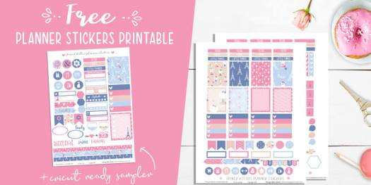 French Kittens Planner Stickers Printable Vintage Glam Studio