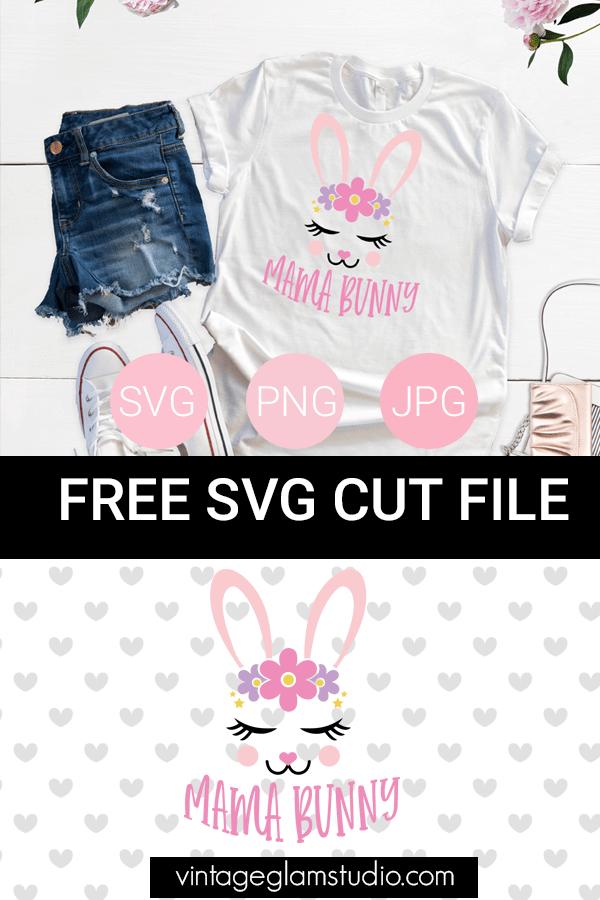 bunny svg cut file layout