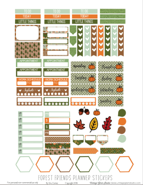 forest planner stickers