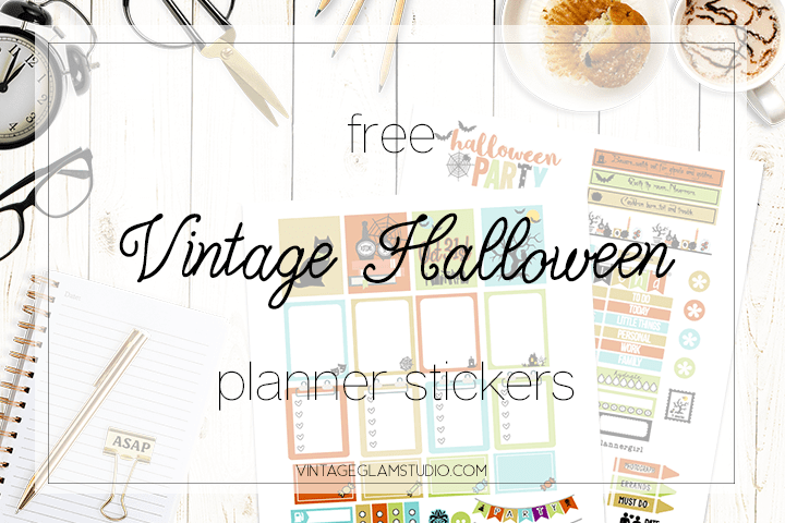 desktop, halloween planner stickers