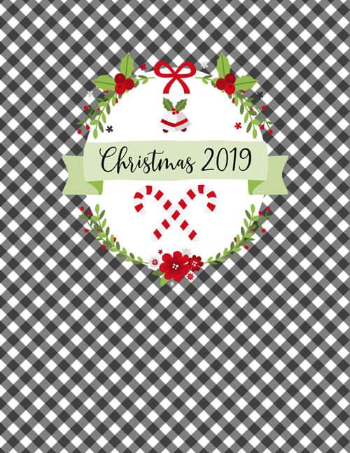binder cover printable, christmas