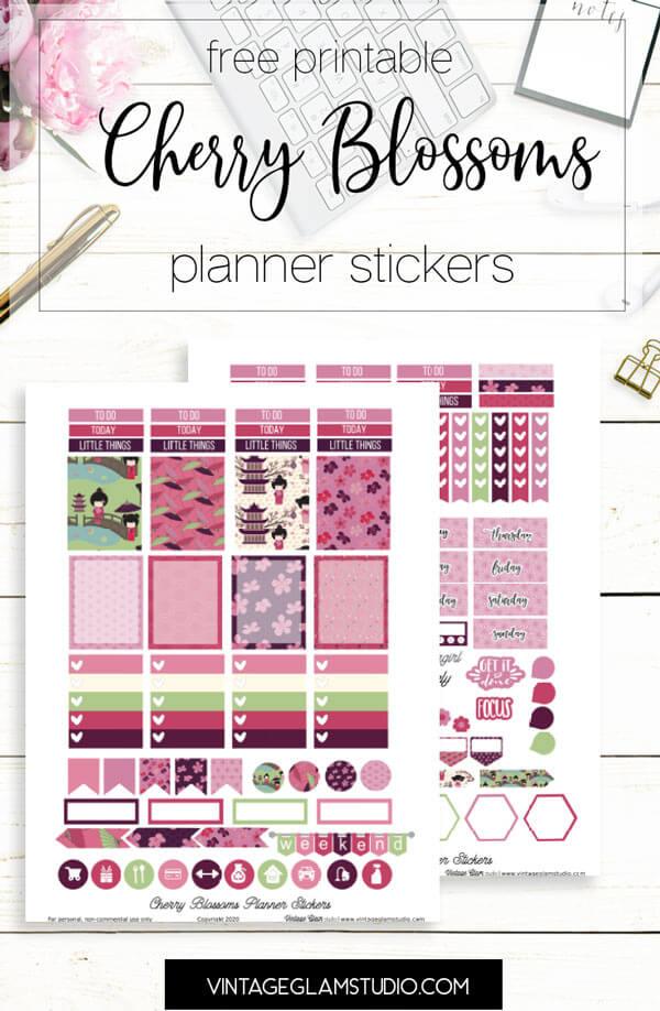 pink planner stickers