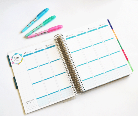 weekly layout, erin condren life planner
