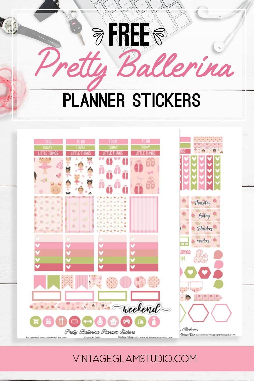 ballerina planner sticker printables