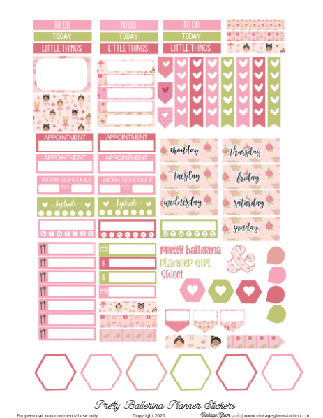 erin condren planner stickers printable