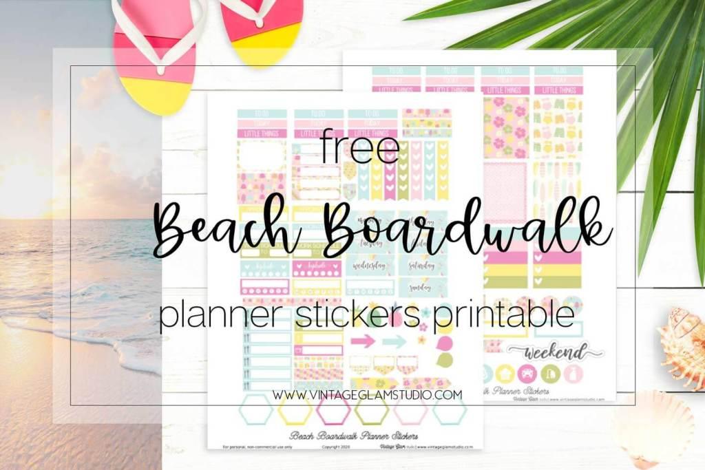 beach planner stickers